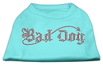 Bad Dog Rhinestone Shirts Aqua XS
